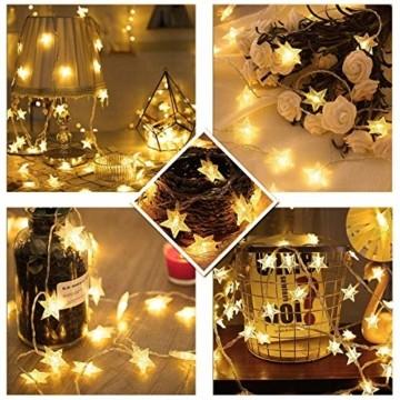 6 Meter 40LED Lichter,Weihnachtsfeier Dekoration Lichter,Weihnachtsbeleuchtung, Fensterlicht Saugnapf ,Fensterlichter,lichtervorhang fenster ,Lichterkette,Lichtervorhang Lichter Weihnachtsbeleuchtung - 4