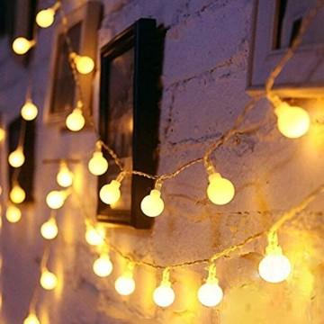 6 Meter 40LED Lichter,Weihnachtsfeier Dekoration Lichter,Weihnachtsbeleuchtung, Fensterlicht Saugnapf ,Fensterlichter,lichtervorhang fenster ,Lichterkette,Lichtervorhang Lichter Weihnachtsbeleuchtung - 1