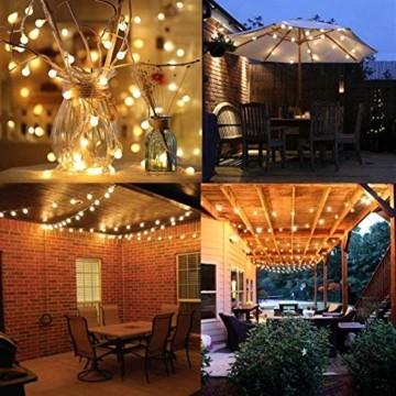 6 Meter 40LED Lichter,Weihnachtsfeier Dekoration Lichter,Weihnachtsbeleuchtung, Fensterlicht Saugnapf ,Fensterlichter,lichtervorhang fenster ,Lichterkette,Lichtervorhang Lichter Weihnachtsbeleuchtung - 5