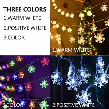 6 Meter 40LED Lichter,Weihnachtsfeier Dekoration Lichter,Weihnachtsbeleuchtung, Fensterlicht Saugnapf ,Fensterlichter,lichtervorhang fenster ,Lichterkette,Lichtervorhang Lichter Weihnachtsbeleuchtung - 7