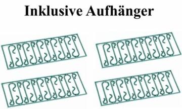 64x Kunststoff Christbaumkugeln Ø 6cm Kugel Box Glanz Glitzer Matt Dekor Inge, Farbe:Türkis-Weiß - 7