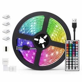 AGPTEK LED Strip LED Streifen 5M 20 Farbe, LED Lichterkette 6 DIY-Modi, Cuttable, LED Leiste für Party, Hausbeleuchtung, Bar, KTV, Weihnachtsbaum, Halloween, Thanksgiving, Weihnachten - 1