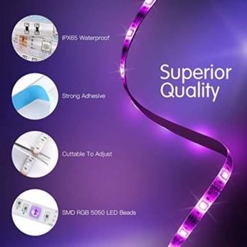 AGPTEK LED Strip LED Streifen 5M 20 Farbe, LED Lichterkette 6 DIY-Modi, Cuttable, LED Leiste für Party, Hausbeleuchtung, Bar, KTV, Weihnachtsbaum, Halloween, Thanksgiving, Weihnachten - 6