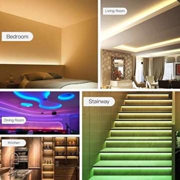 AGPTEK LED Strip LED Streifen 5M 20 Farbe, LED Lichterkette 6 DIY-Modi, Cuttable, LED Leiste für Party, Hausbeleuchtung, Bar, KTV, Weihnachtsbaum, Halloween, Thanksgiving, Weihnachten - 8