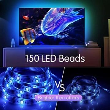 AGPTEK LED Strip LED Streifen 5M 20 Farbe, LED Lichterkette 6 DIY-Modi, Cuttable, LED Leiste für Party, Hausbeleuchtung, Bar, KTV, Weihnachtsbaum, Halloween, Thanksgiving, Weihnachten - 9