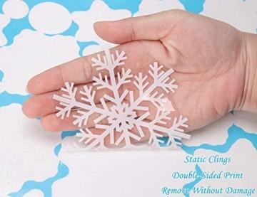 Ahsado 278 PCS Weihnachten Schneeflocke Fensterdeko Fensterbilder, Ahsado Xmas Decals Dekorationen mit Santa Claus Rentier Decals für Glas(8 Blatt) - 5