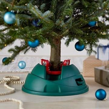 AmazonBasics Weihnachtsbaum-Ständer, Christbaumständer mit 1,2-l-Wasserbehälter, für echte Bäume bis zu einer Höhe von 2,8 m - 5