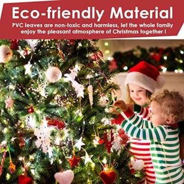 amzdeal 180cm künstlicher Weihnachtsbaum - 750 Zweige voll klappbarer Tannenbaum mit flammhemmendem Material & faltbarem Metallständer, perfekte Weihnachtsdekoration für Hause, Outdoor, Mall, Grün - 4