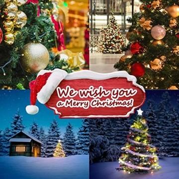 amzdeal 180cm künstlicher Weihnachtsbaum - 750 Zweige voll klappbarer Tannenbaum mit flammhemmendem Material & faltbarem Metallständer, perfekte Weihnachtsdekoration für Hause, Outdoor, Mall, Grün - 6