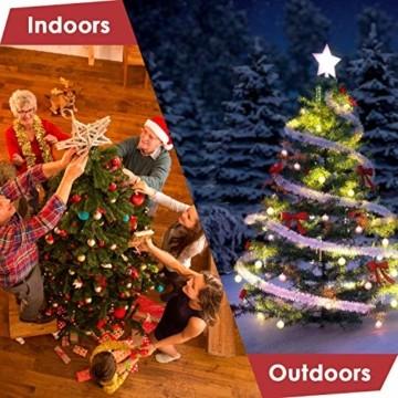 amzdeal 180cm künstlicher Weihnachtsbaum - 750 Zweige voll klappbarer Tannenbaum mit flammhemmendem Material & faltbarem Metallständer, perfekte Weihnachtsdekoration für Hause, Outdoor, Mall, Grün - 8