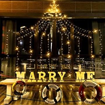 Ankway Solar Weihnachtslichter, 370 LED 8 Modi LED Solar Lichterkette Außen IP67 Wasserdichte Solar Lichterkette Aussen Dekoration für Gärten,Bäume,Garten, Balkon,Hochzeiten,Partys(Warmweiß) - 4