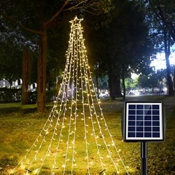 Ankway Solar Weihnachtslichter, 370 LED 8 Modi LED Solar Lichterkette Außen IP67 Wasserdichte Solar Lichterkette Aussen Dekoration für Gärten,Bäume,Garten, Balkon,Hochzeiten,Partys(Warmweiß) - 1