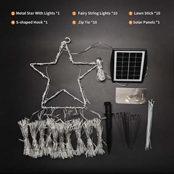 Ankway Solar Weihnachtslichter, 370 LED 8 Modi LED Solar Lichterkette Außen IP67 Wasserdichte Solar Lichterkette Aussen Dekoration für Gärten,Bäume,Garten, Balkon,Hochzeiten,Partys(Warmweiß) - 5