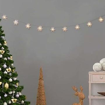 Anyingkai 10 kleine Lämpchen Led Lichtervorhang,Außenlichterkette Dekoration, Lichtervorhang,Led Lichtervorhang für Fenster,Led warmweiß Lichterkette Innen Weihnachten,Led Deko Weihnachten - 2