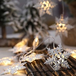 Anyingkai 10 kleine Lämpchen Led Lichtervorhang,Außenlichterkette Dekoration, Lichtervorhang,Led Lichtervorhang für Fenster,Led warmweiß Lichterkette Innen Weihnachten,Led Deko Weihnachten - 1