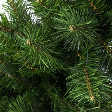 artplants.de Mini Weihnachtsbaum WARSCHAU, grün, Jutesack, 90cm, Ø 50cm - Künstlicher Christbaum - 4
