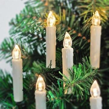Aufun LED Weihnachtskerzen mit Fernbedienung 40 Stück Kabellos Kerzen mit Batterien Outdoor Weinachten für Weihnachtsbaum, Weihnachtsdeko, Hochzeitsdeko, Party, Feiertag, Warmweiß - 4