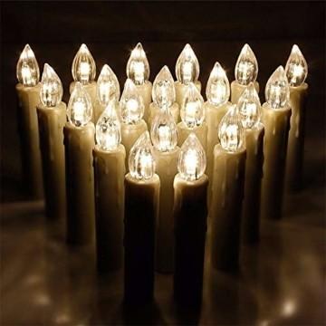 Aufun LED Weihnachtskerzen mit Fernbedienung 40 Stück Kabellos Kerzen mit Batterien Outdoor Weinachten für Weihnachtsbaum, Weihnachtsdeko, Hochzeitsdeko, Party, Feiertag, Warmweiß - 7