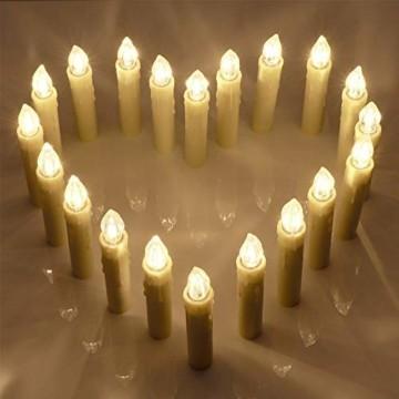 Aufun LED Weihnachtskerzen mit Fernbedienung 40 Stück Kabellos Kerzen mit Batterien Outdoor Weinachten für Weihnachtsbaum, Weihnachtsdeko, Hochzeitsdeko, Party, Feiertag, Warmweiß - 8