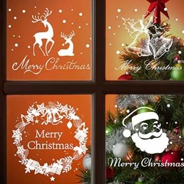 Begleri 135 Fensterbilder für Weihnachten,Schneeflocken mit Fensterdeko -Statisch Haftende PVC Aufklebe - 2