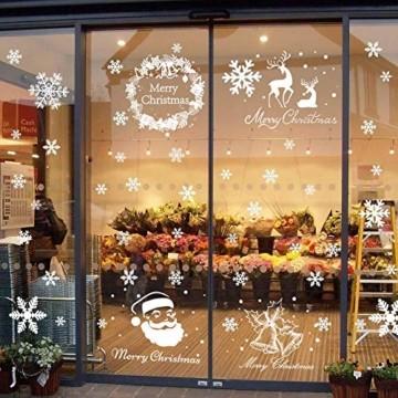 Begleri 135 Fensterbilder für Weihnachten,Schneeflocken mit Fensterdeko -Statisch Haftende PVC Aufklebe - 1