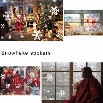 Begleri 135 Fensterbilder für Weihnachten,Schneeflocken mit Fensterdeko -Statisch Haftende PVC Aufklebe - 7
