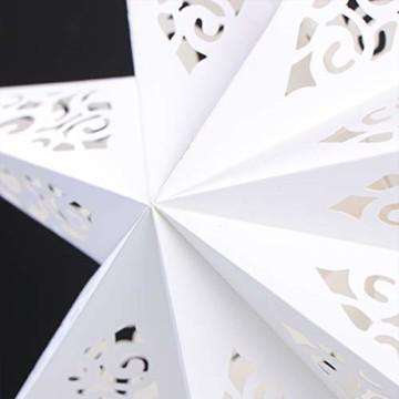 BESPORTBLE Papierstern Lampenschirm Aushöhlen Sterne Papier Weiß Faltsterne 45cm Hängeleuchtenschirm Hochzeit Geburtstag Weihnachten Party Festival Hängende Weihnachtsdekoration Stil B - 2