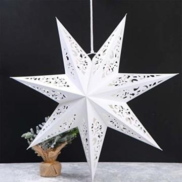 BESPORTBLE Papierstern Lampenschirm Aushöhlen Sterne Papier Weiß Faltsterne 45cm Hängeleuchtenschirm Hochzeit Geburtstag Weihnachten Party Festival Hängende Weihnachtsdekoration Stil B - 4
