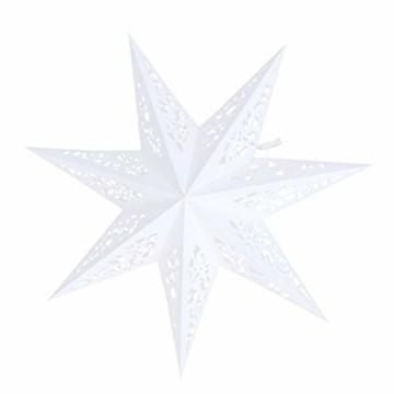 BESPORTBLE Papierstern Lampenschirm Aushöhlen Sterne Papier Weiß Faltsterne 45cm Hängeleuchtenschirm Hochzeit Geburtstag Weihnachten Party Festival Hängende Weihnachtsdekoration Stil B - 1