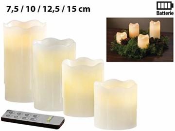 Britesta Tannenkränze LED-Kerzen: Adventskranz mit weißen LED-Kerzen, silbern geschmückt (Elektrische Kerzen Adventskranz) - 4