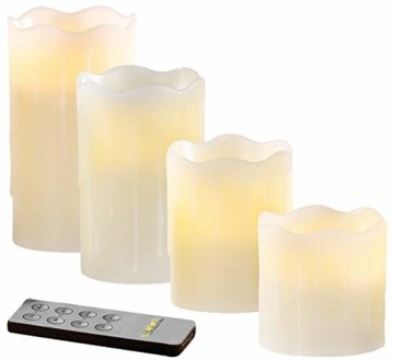 Britesta Tannenkränze LED-Kerzen: Adventskranz mit weißen LED-Kerzen, silbern geschmückt (Elektrische Kerzen Adventskranz) - 8