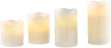 Britesta Tannenkränze LED-Kerzen: Adventskranz mit weißen LED-Kerzen, silbern geschmückt (Elektrische Kerzen Adventskranz) - 9