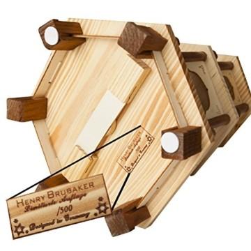 Brubaker Weihnachtspyramide Holzpyramide - Natur - 3 Etagen - 45 cm Höhe - handbemalte Figuren - 4