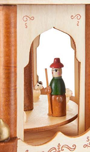 Brubaker Weihnachtspyramide Holzpyramide - Natur - 3 Etagen - 45 cm Höhe - handbemalte Figuren - 9