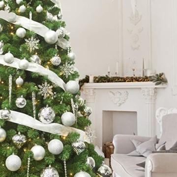 Busybee weihnachtskugeln 20 Stücke 8CM Ornamente für Weihnachtsbaum Weiß Christbaumkugeln Weihnachtsdekoration Kugeln - 3
