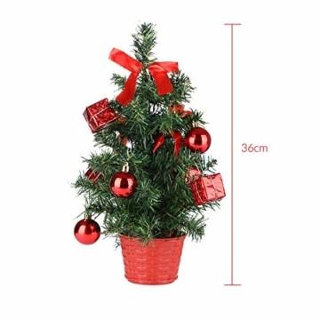 Casaria Weihnachtsbaum 36 cm künstlicher Tannenbaum Mini LED Lichterkette Christbaum Baum Tanne Weihnachten Ständer - 4