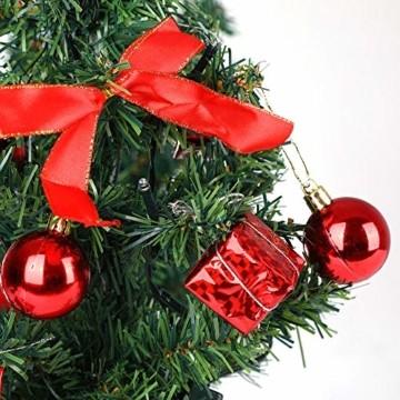 Casaria Weihnachtsbaum 36 cm künstlicher Tannenbaum Mini LED Lichterkette Christbaum Baum Tanne Weihnachten Ständer - 6