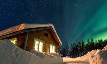 Casaria Weihnachtsgirlande 5m Fernbedienung 100 LEDs Innen Außen Girlande Weihnachten Weihnachtsdeko Tannengirlande weiß - 6