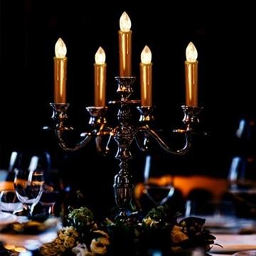CCLIFE TÜV GS LED Weihnachtskerzen Kabellos RGB Kerzen Bunt Weihnachtsbaumkerzen Christbaumkerzen mit Fernbedienung Timer Kerzenlichter, Farbe:Gold, Größe:20er - 6