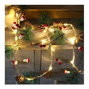Chaohua Weihnachten LED Tannenzapfen Lichtschnur Weihnachtsbaum Dekoration Lichtschnur 20LED Weihnachtsbaumgirlande - 3