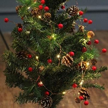 Chaohua Weihnachten LED Tannenzapfen Lichtschnur Weihnachtsbaum Dekoration Lichtschnur 20LED Weihnachtsbaumgirlande - 4