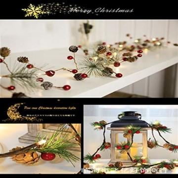 Chaohua Weihnachten LED Tannenzapfen Lichtschnur Weihnachtsbaum Dekoration Lichtschnur 20LED Weihnachtsbaumgirlande - 5
