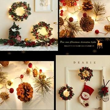 Chaohua Weihnachten LED Tannenzapfen Lichtschnur Weihnachtsbaum Dekoration Lichtschnur 20LED Weihnachtsbaumgirlande - 6
