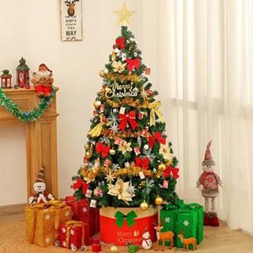 Chaohua Weihnachten LED Tannenzapfen Lichtschnur Weihnachtsbaum Dekoration Lichtschnur 20LED Weihnachtsbaumgirlande - 7