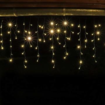 CLGarden Premium Eisregen Lichterkette außen 600 LED warmweiß 12m Timer 5 Jahre Garantie - 4
