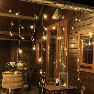 CLGarden Premium Eisregen Lichterkette außen 600 LED warmweiß 12m Timer 5 Jahre Garantie - 7