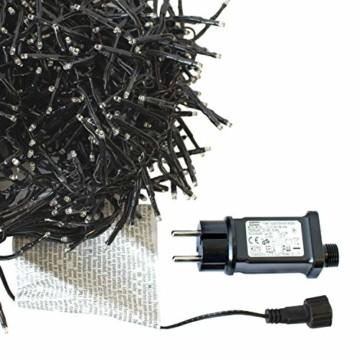 Cluster Lichterkette 1152 LEDs 8,4m 840cm Warmweiß mit 8 Lichteffekten Innen und Außen Beleuchtung Deko Weihnachten - 2