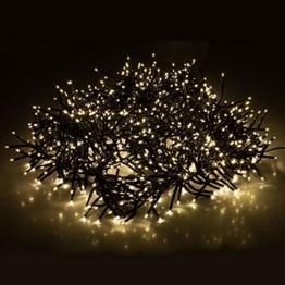 Cluster Lichterkette 1152 LEDs 8,4m 840cm Warmweiß mit 8 Lichteffekten Innen und Außen Beleuchtung Deko Weihnachten - 1