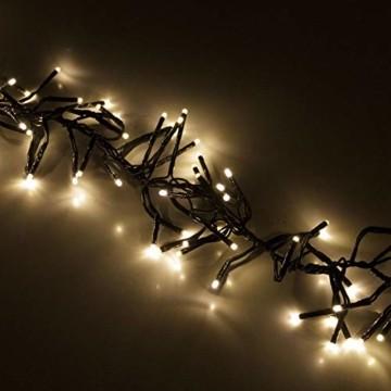 Cluster Lichterkette 1152 LEDs 8,4m 840cm Warmweiß mit 8 Lichteffekten Innen und Außen Beleuchtung Deko Weihnachten - 4