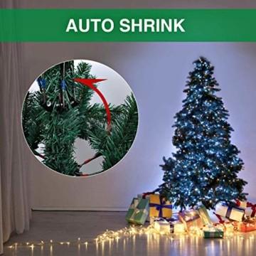 Collen Tannenbaum Künstlich Weihnachtsbaum grün Christbaum Tanne Weihnachtsdeko, mit Metall Christbaum Ständer und 150 LEDs Lichterketten für 8 Beleuchtungsmodi (1.5m) - 3